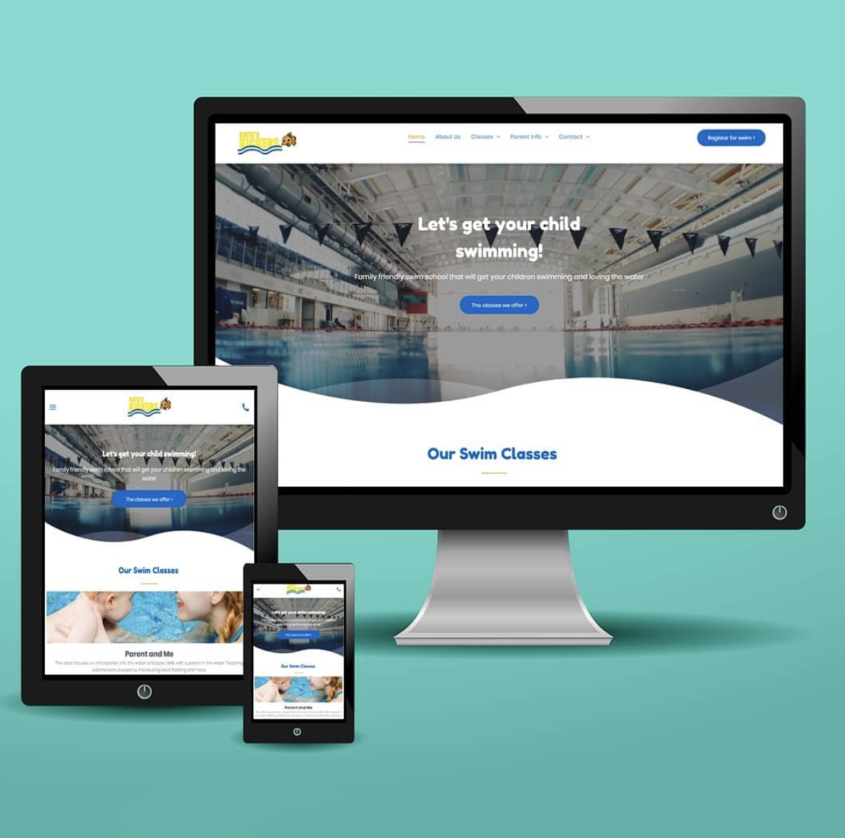 swim school web design