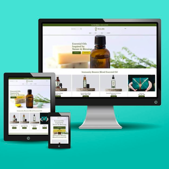 essential oils web design